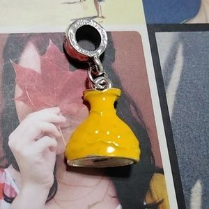 👸 Belle's Yellow Dress Hanging Charm